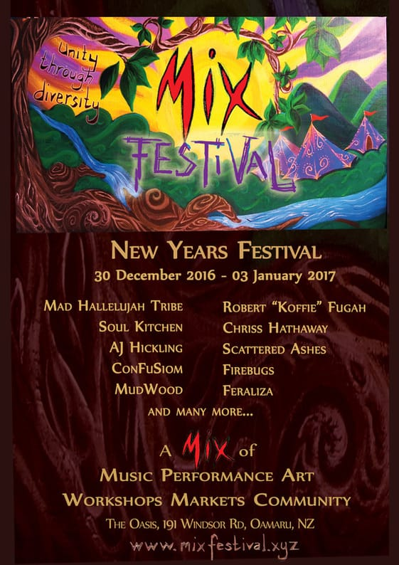 New Years Festival 30 December 2016 - 03 January 2017 Mad Hallelujah Tribe Robert